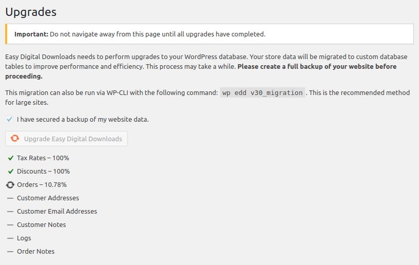 EDD 3.0 migration UI