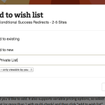 Save products to a new list, without leaving the page