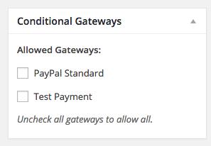 Easy Digital Downloads Conditional Gateways Addon