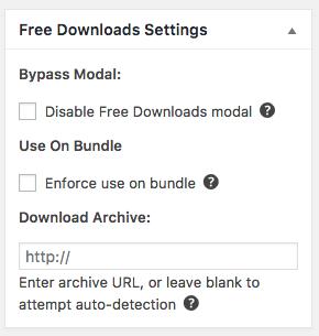 The Free Downloads meta box