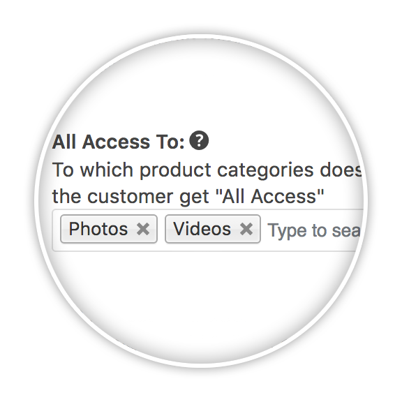 All Access to a specific category