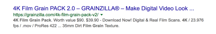 Product meta description focusing on price and technical specifications (Grainzilla)
