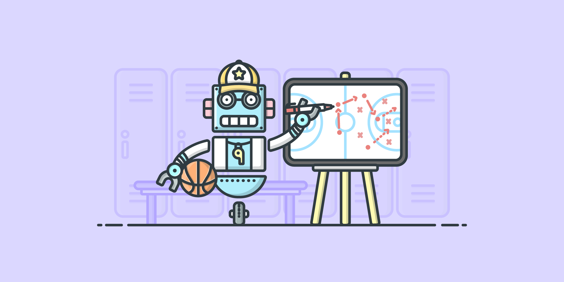 Illustration of a robot painting