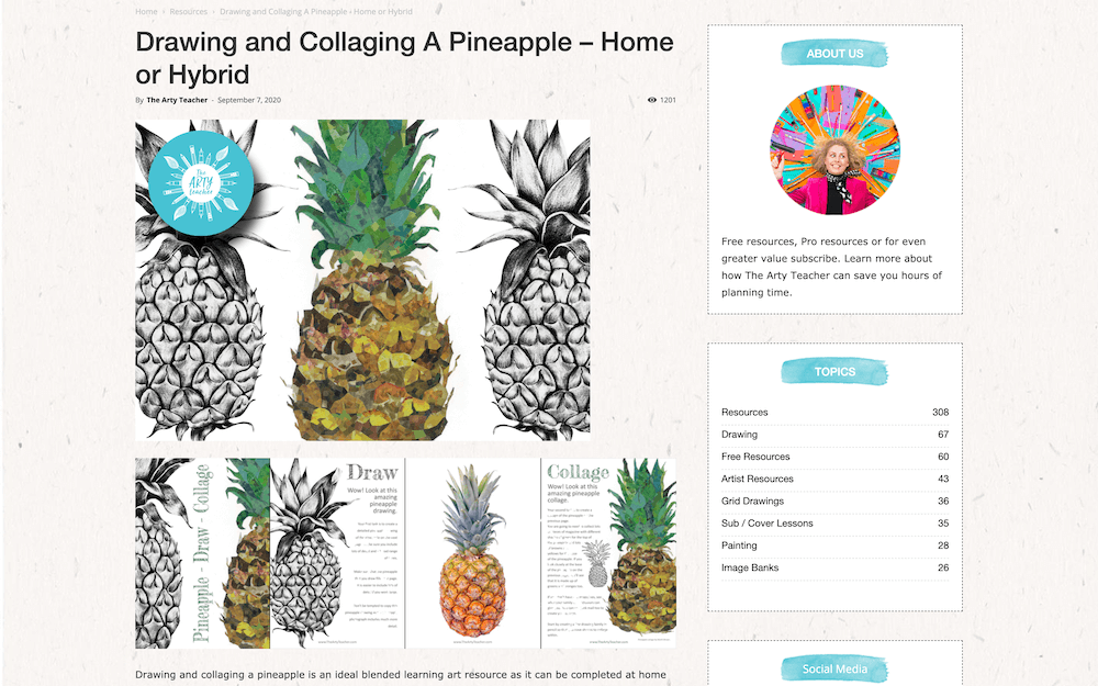 Collaging a Pineapple (The Arty Teacher)