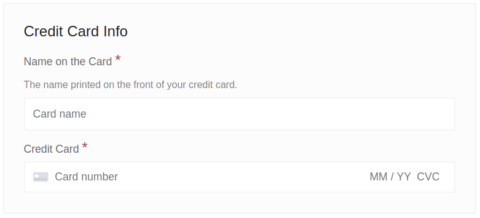 Combined credit card fields
