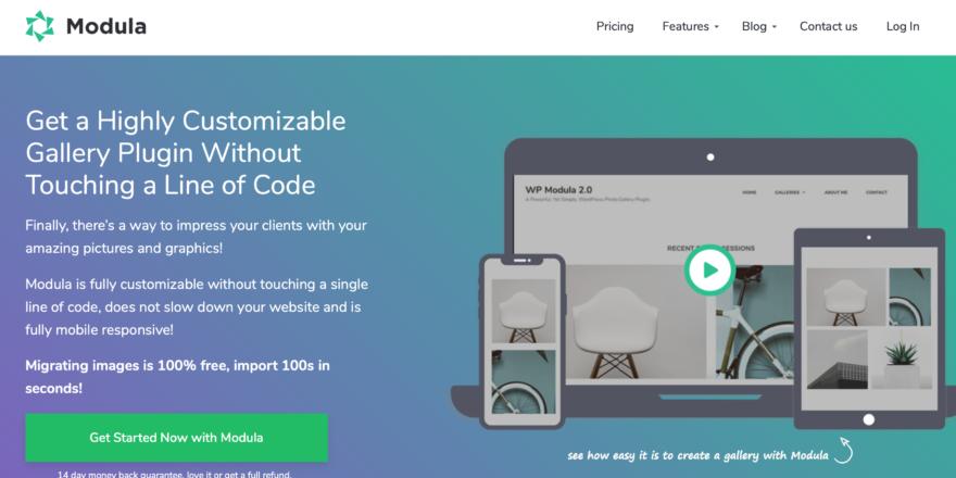 Screenshot - Modula site